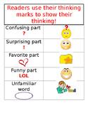 Close Reading Thinking Marks