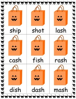 Closed Syllable Card Games Bundle- Halloween Theme!