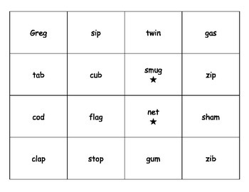 Closed Syllable Commotion Board Game