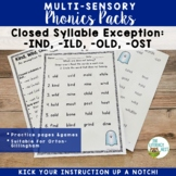 Closed Syllable Exception: IND, ILD, OLD, OST | Phonics Pr