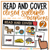 Closed Syllable Exceptions Read and Cover Activity (ILD, IND, OLD, OLT, OST)