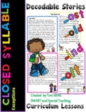Level 2 Unit 3 Closed Syllable Exceptions  Second Grade Decodable Stories