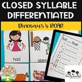 Closed Syllable Game Dinosaur's ROAR