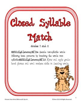 Closed Syllable Match