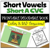 Closed Syllable Printable Decodable Story with Short A CVC Words