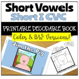 Closed Syllable Printable Decodable Story with Short I CVC Words