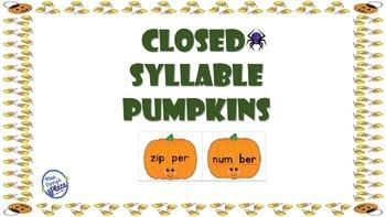 Closed Syllable Pumpkins