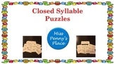 Closed Syllable Puzzles