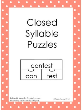 Closed Syllable Phonics Puzzles
