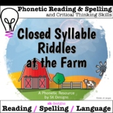 Closed Syllable Riddle Language Arts Reading Spelling Game