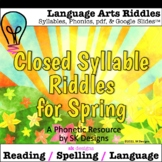 Closed Syllable Spring Language Arts Reading Spelling Game