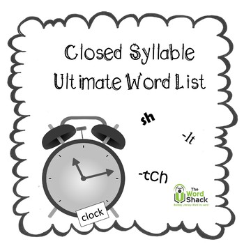 Closed Syllable Ultimate Word List