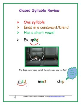 Closed Syllable & VC-CV Syllabication Pattern