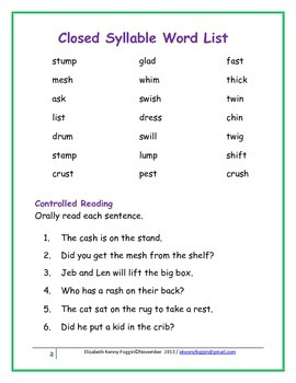 closed syllable amp vccv syllabication pattern tpt