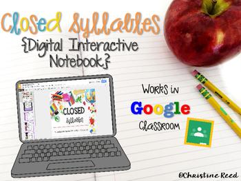 Closed Syllables {Digital Interactive Notebook}