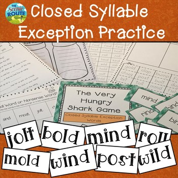 Closed Syllables Exceptions (old, ild, ind, ost, olt, oll) Practice Unit