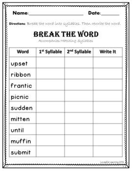 Closed Syllables- Free Sample