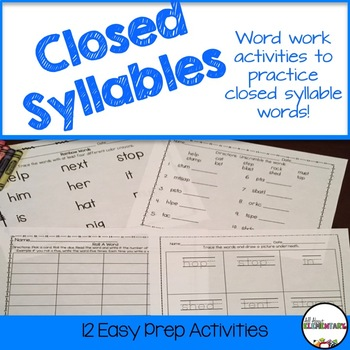 Closed Syllable Words