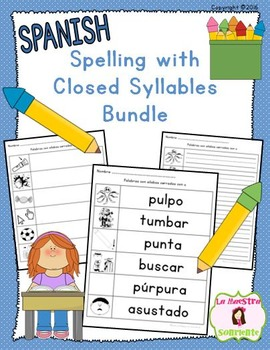Spelling: Writing Closed Syllables BUNDLE (Spanish)