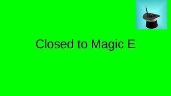 Orton Gillingham Closed Syllables turn into Magic E