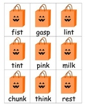 Closed Syllables with End Blends Halloween-Themed Card Game