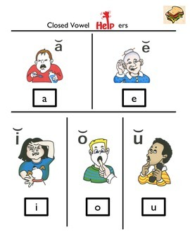 Closed Vowel 'Helper' Visual Aid
