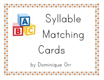 Closed and Open Syllable Matching Cards