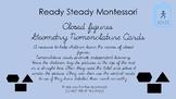 Closed figures Geometry nomenclature cards in d'nealian  font