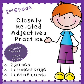 Closely Related Adjective Practice (***Second Grade FREEBIE***)
