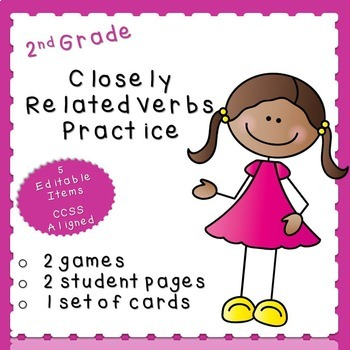 Closely Related Verbs Practice (second grade)