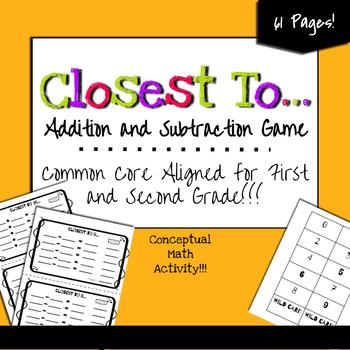 Addition and Subtraction Activities (10, 50, 100, and 0) Conceptual Math