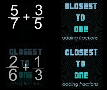 5th Grade Fractions: Closest to 1 (Fraction Benchmarks Activity)