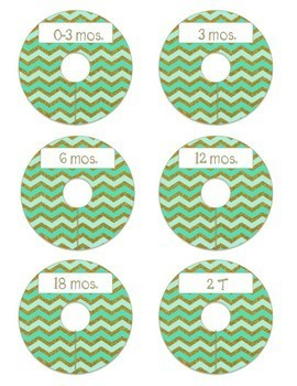 Closet Dividers for Kids: Aqua and Gold