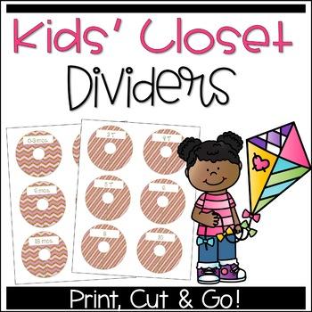 Closet Dividers for Kids: Gone Pink!