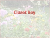 "Closet Key: A song to learn ""re"" FREEBIE!!!"