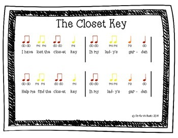 """The Closet Key"" Song Game with Fun mp3 Backtrack"
