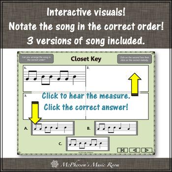Soprano Recorder BAG Song ~ Closet Key Interactive Visuals {Notes BAG}