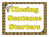 Closing Sentence Starters (Western Theme)