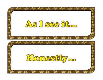 Closing Sentence Starters (Western Theme)