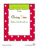 Exit Tickets - It's Closing Time