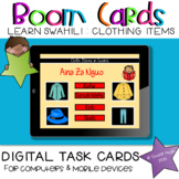 Learn Swahili |Cloth Items BOOM Cards Learning