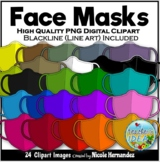 Cloth Masks Clip Art for Personal and Commercial Use