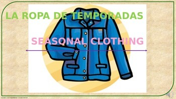 Clothes (2). Power Point Presentation with audio.