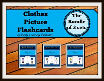Clothes BUNDLE (set I, II, III) Picture Flashcards