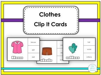 Clothes Clip It Cards