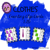 Clothes Counting Clip Cards