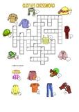 Clothes Crossword