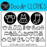 Clothes Doodle FONT {Creative Clips Clipart}