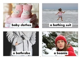 Clothes FlashCards with Vocabulary
