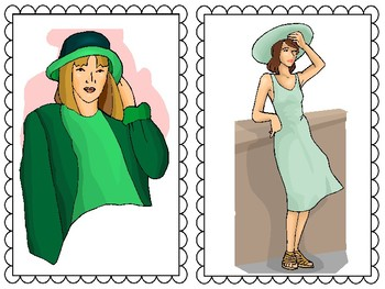 Clothes Flashcards for Elementary ELL